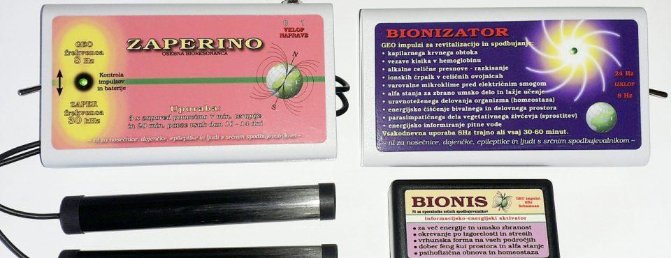 Zaper Zaperino, Bionis in Bionizator proti gripi, prehladu in parazitom