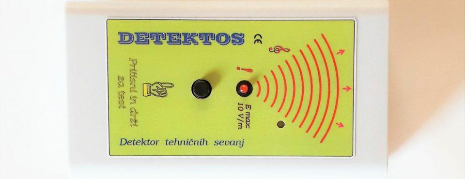 Detektos za detekcijo elektricnega sevanja