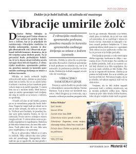 Vibracije umirile zolc - Milojka Boltar, Zaper-Zaperino, Bionis, Lakites