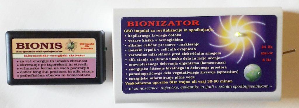 Bionis in Bionizator za razstrupljanje črevesja