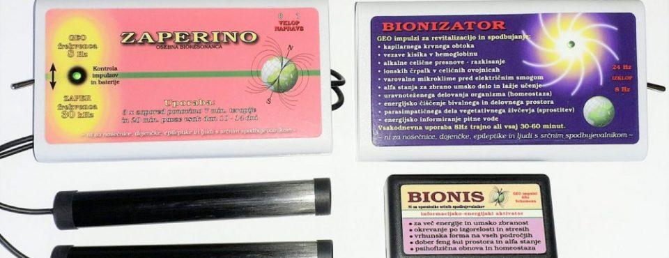 Zaper frekvence – Bionis, Bionizator in Zaper Zaperino