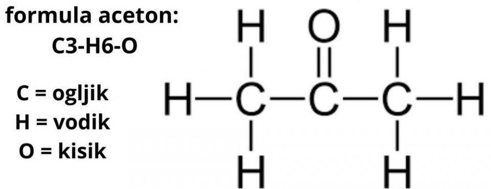 organska topila formula aceton C3-H6-O